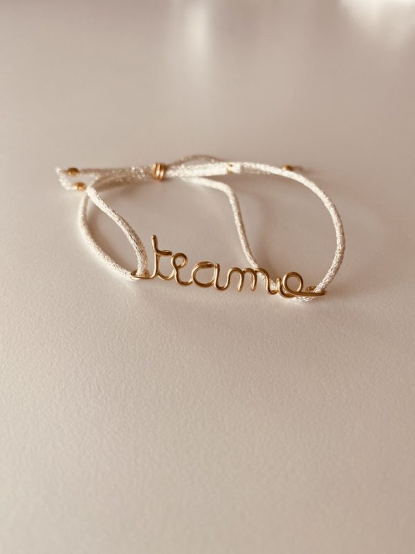 bracelet en gold filled a message personalisable