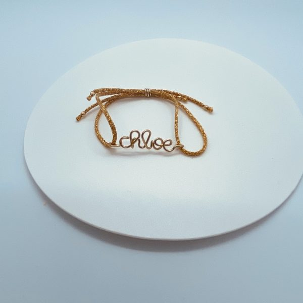 bracelet prénom gold filled