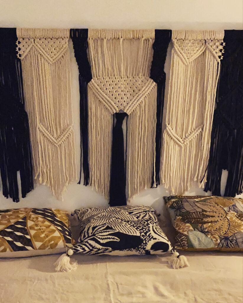 Tête de lit tissage manuelle en corde bio