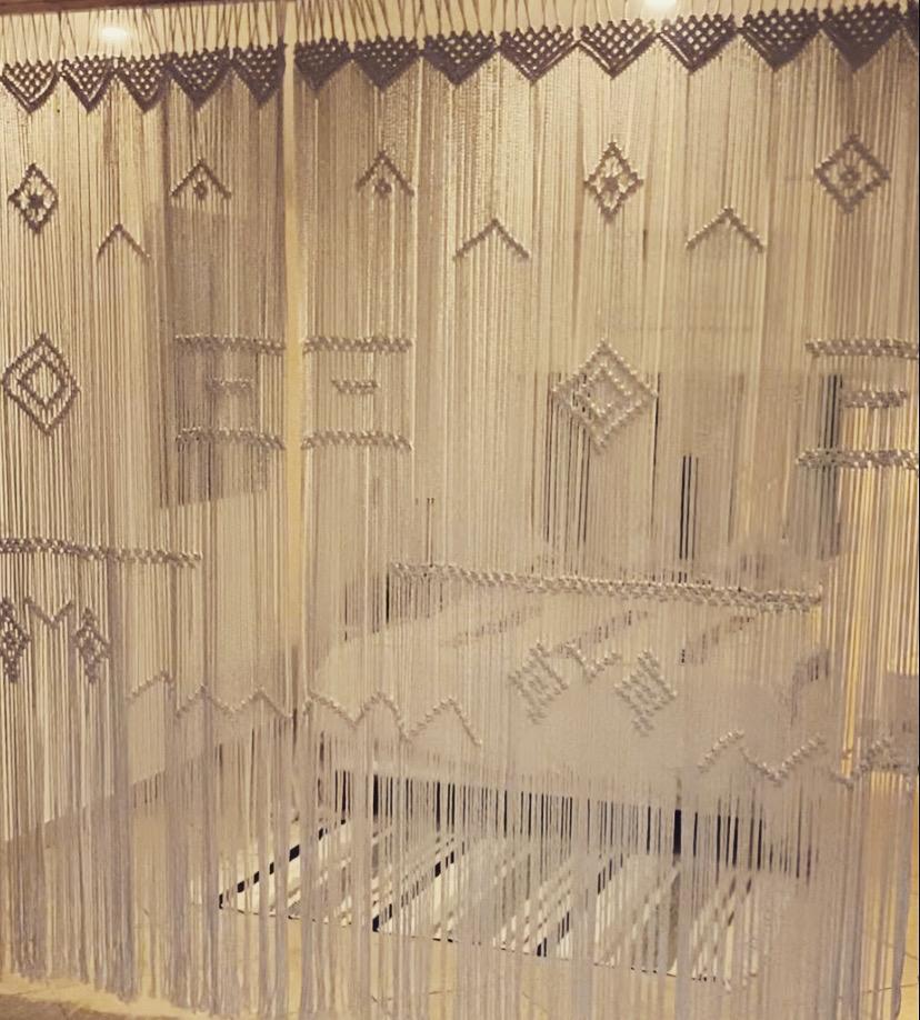 rideaux corde